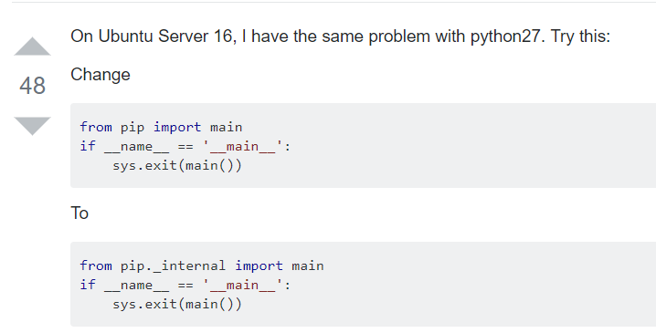 pip升级报错ImportError: cannot import name 'main' - 可靠的企业级http