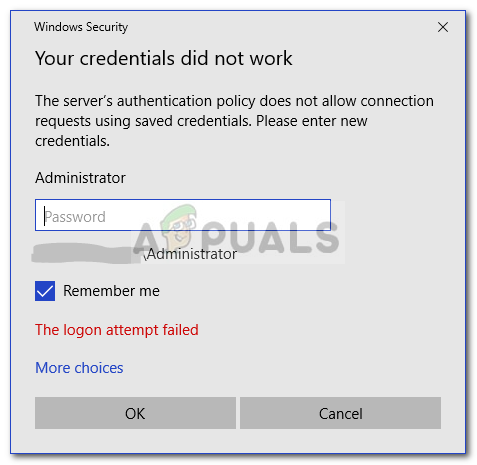 FW: Fix - Your Credentials Did not Work in Remote Desktop